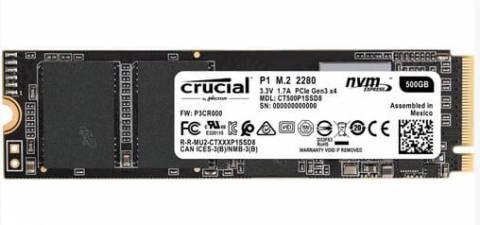Crucial P1 M.2 NVME SSD